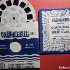 Fotografía antigua: DISCO DIAPOSITIVAS PARA VISOR VIEW MASTER - GOLDILOCKS & THREE BEARS - RICITOS DE ORO Y TRES OSOS. Lote 195345758