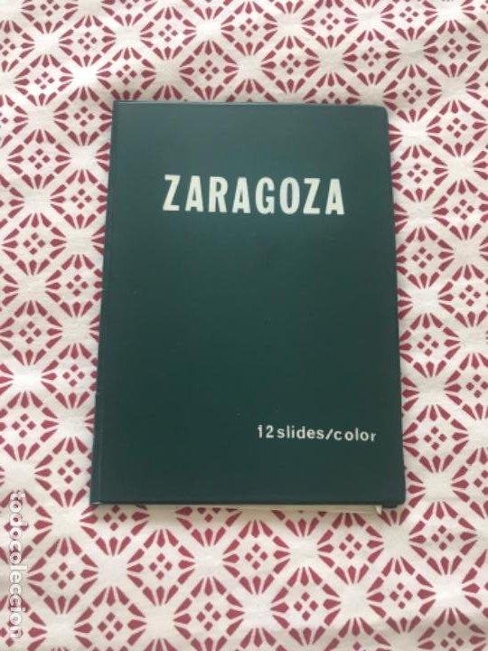 CARPETA CON 12 SLIDES COLOR DIAPOSITIVAS DE ZARAGOZA ... ZKR (Fotografía Antigua - Diapositivas)