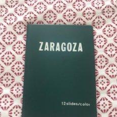 Fotografía antigua: CARPETA CON 12 SLIDES COLOR DIAPOSITIVAS DE ZARAGOZA ... ZKR. Lote 159391058