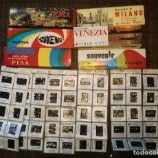 Fotografía antigua: LOTE DIAPOSITIVAS GRANADA ITALIA ROMA VENECIA MILAN PISA ETC. Lote 199065840