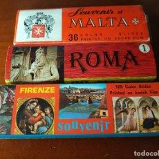 Fotografía antigua: DIAPOSITIVAS DE FLORENCIA, ROMA Y MALTA.. Lote 199402258