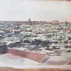 Fotografía antigua: DIAPOSITIVA EN CRISTAL DE JERUSALEN PRINCIPIOS 1900 COLOREADA ESPECTACULAR. Lote 203095226