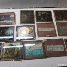 Fotografía antigua: DIAPOSITIVAS EN CRISTAL DE JESUS LOTE 13 PRINCIPIOS 1900 COLOREADA ESPECTACULARES. Lote 203166080