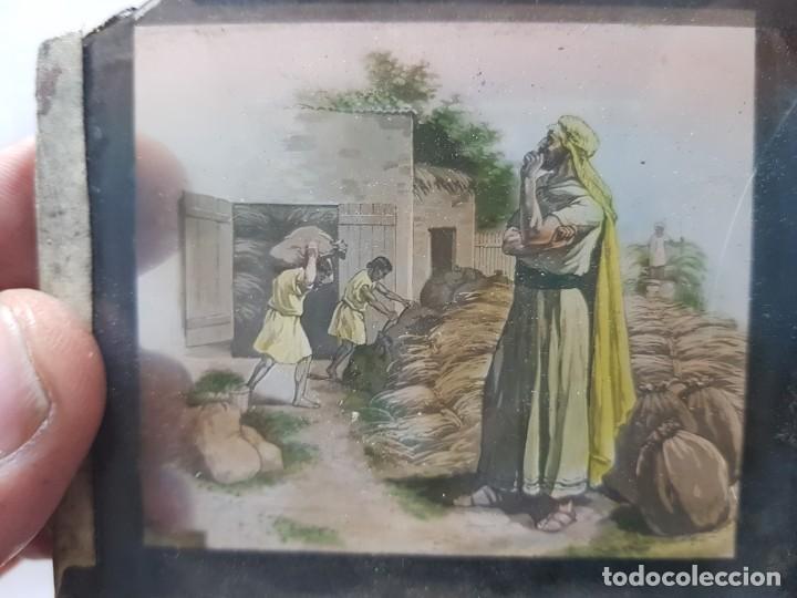 Fotografía antigua: Diapositivas en Cristal de Jesus lote 13 principios 1900 coloreada espectaculares - Foto 3 - 203166080
