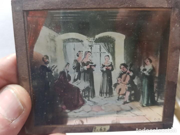 Fotografía antigua: Diapositivas en Cristal de Jesus lote 13 principios 1900 coloreada espectaculares - Foto 11 - 203166080