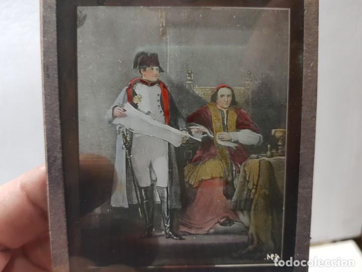 Fotografía antigua: Diapositivas en Cristal de Jesus lote 13 principios 1900 coloreada espectaculares - Foto 14 - 203166080