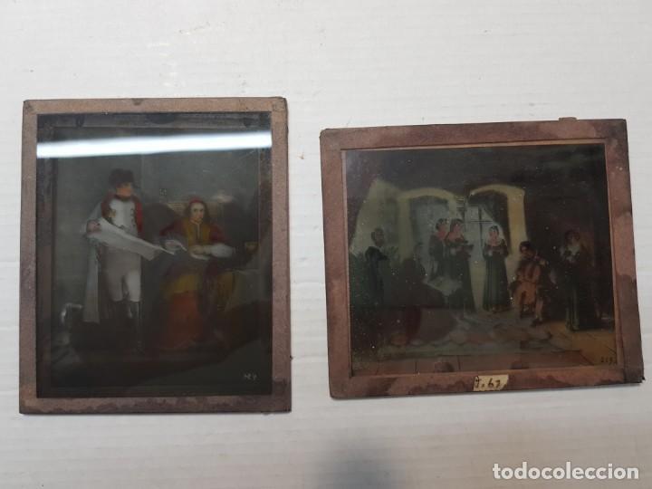 Fotografía antigua: Diapositivas en Cristal de Jesus lote 13 principios 1900 coloreada espectaculares - Foto 16 - 203166080
