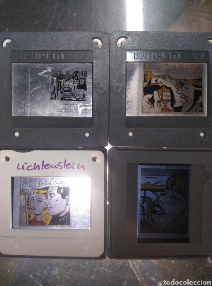 LOTE 4 DIAPOSITIVAS COMIC (Fotografía Antigua - Diapositivas)