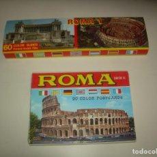 Fotografía antigua: ROMA: 60 COLOR SLIDES Y 20 POSTCARDS, KODAK DIAPOSITIVAS Y POSTALES. POSTAL FOTOS TURISMO. Lote 212571931