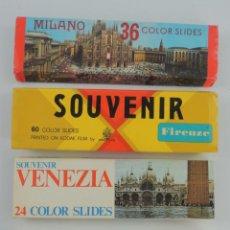 Photographie ancienne: CONJUNTO LOTE DE DIAPOSITIVAS MILANO,FIRENZE,VENEZIA Y ROMA.. Lote 215966492