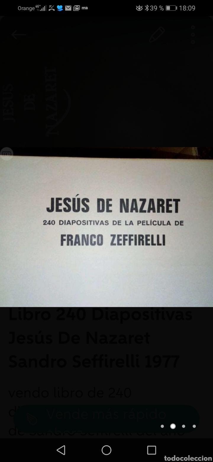 Fotografía antigua: LIBRO DE 240 DIAPOSITIVAS DE LA PELÍCULA JESÚS DE NAZARET DE SANDRO SEFFIRELLI 1977 - Foto 2 - 218819617