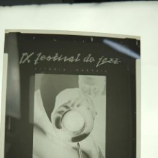 Fotografía antigua: DIAPOSITIVO NEGATIVO - IX FESTIVAL DE JAZZ GASTEIZKO. Lote 219196843
