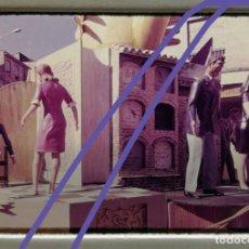 Fotografía antigua: FOTOGRAFÍA EN DIAPOSITIVA.FALLA CALLE GUILLEM DE CASTRO.FALLAS DE VALENCIA.AÑOS 60.. Lote 223840857