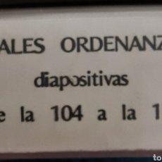 Fotografía antigua: ANTIGUO LOTE 120 DIAPOSITIVAS REALES ORDENANZAS DE LAS FUERZAS ARMADAS. Lote 244738395