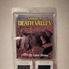 Fotografia antiga: 20 DIAPOSITIVAS - GEOLOGY DEATH VALLEY 20 COLOR SLIDES HOLIDAY - VALLE DE LA MUERTE. Lote 228986985