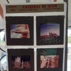 Fotografia antiga: DIAPOSITIVAS CATEDRAL DE LEON - VISTAS EXTERIORES I - ARQUITECTURA SERIE 1. Lote 239385965