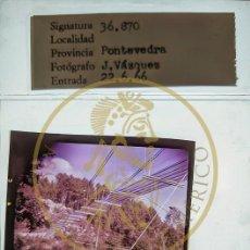 Fotografía antigua: 1969 RIO ULLA - PASARELA MARIOLA - GALICIA DIAPOSITIVA ORIGINAL PROFESIONAL J.VAZQUEZ FORM.MEDIO 6X6. Lote 239489385
