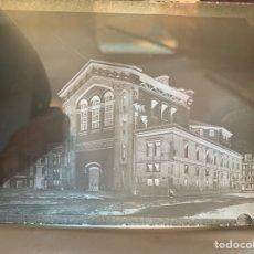 Fotografía antigua: PLACA DE CRISTAL. NEGATIVO. CASTELLÓN, FACHADA POSTERIOR DEL TEATRO PRINCIPAL. PRIMER CUARTO S. XX.. Lote 241927450