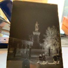 Fotografía antigua: PLACA CRISTAL. NEGATIVO. CASTELLÓN. MONUMENTO AL REY D. JAIME I. FOTÓGRAFO?. PRIMER CUARTO S. XX.. Lote 241929835