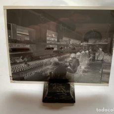 Fotografía antigua: NEGATIVO CELULOIDE. INTER ELECTRÓNICA S. A. TÉCNICOS MONTAJE. HORTOLA FOTÓGRAFO. BARCELONA.. Lote 244528350