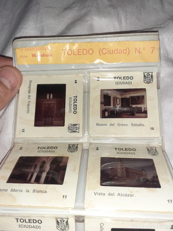 Fotografía antigua: 20 antigua diapositiva catedral y ciudad de toledo folletom kodak foto cruz, años 60 - Foto 2 - 245969760