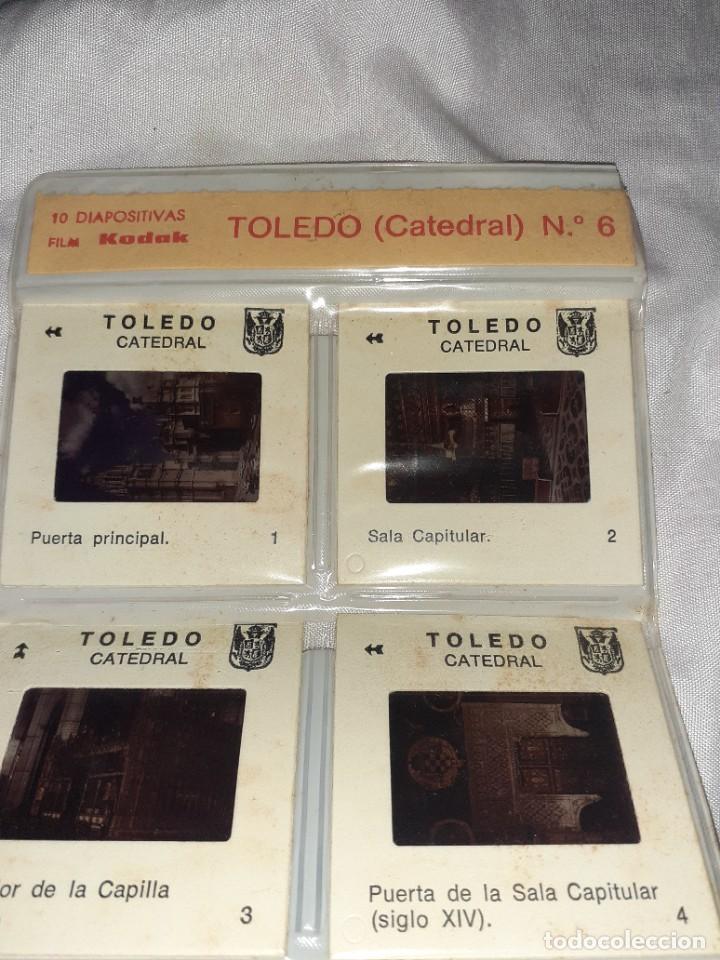 Fotografía antigua: 20 antigua diapositiva catedral y ciudad de toledo folletom kodak foto cruz, años 60 - Foto 3 - 245969760