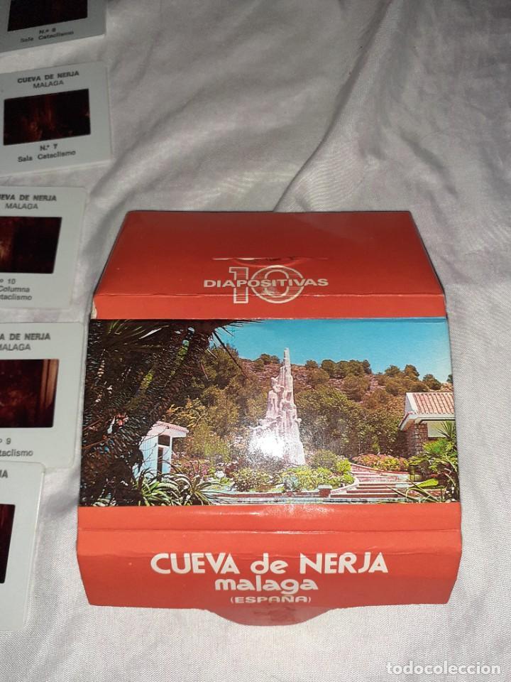 Fotografía antigua: 10 diapositiva cueva de nerja Málaga,años 60 - Foto 2 - 245974090