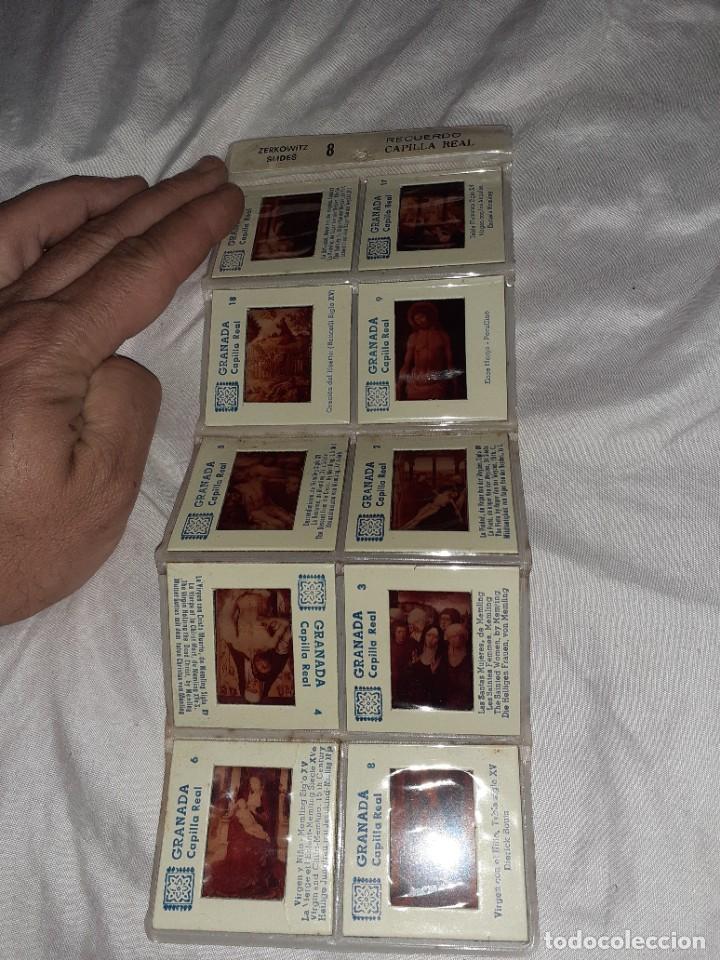 10 ANTIGUA DIAPOSITIVA RECUERDO CAPILLA REAL GRANADA,ZERKOWITZ, SIGLO XX (Fotografía Antigua - Diapositivas)