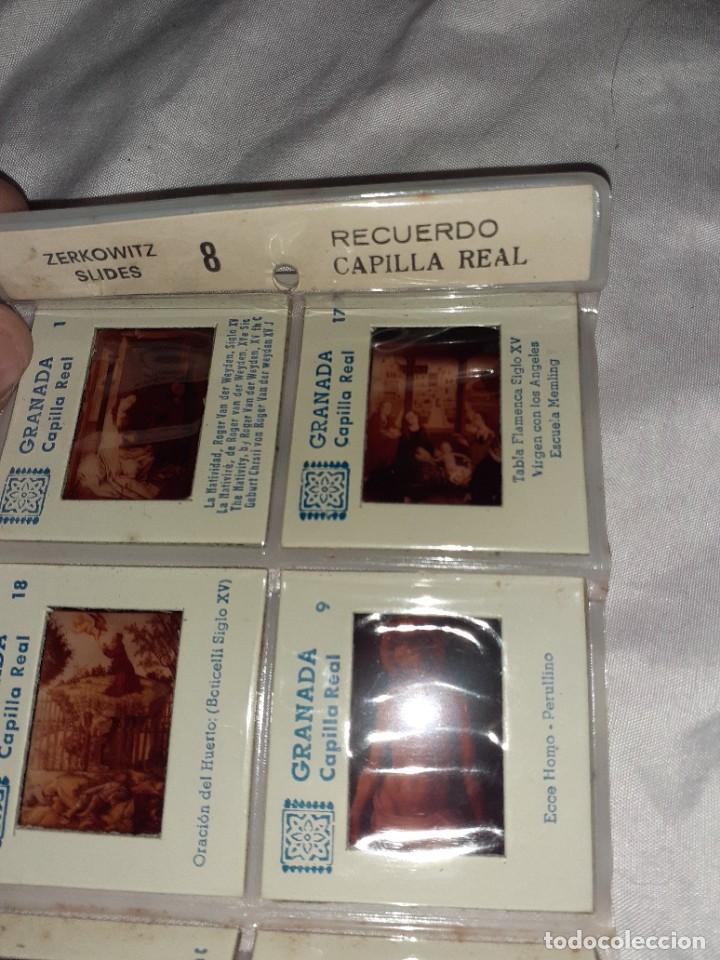 Fotografía antigua: 10 antigua diapositiva recuerdo capilla real granada,zerkowitz, siglo xx - Foto 2 - 245975525
