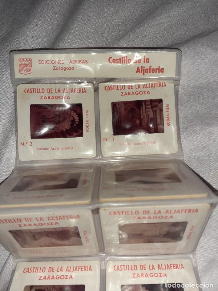 Fotografía antigua: 10 antigua diapositiva castillo de la aljaferia Zaragoza ediciones arribas siglo xx - Foto 2 - 245976270