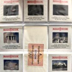 Fotografía antigua: LOTE 10 DIAPOSITIVAS IMAGENES DE GRECIA ATENAS ACROPOLIS - VIAJE KODAK FOTOGRAFIAS PARTHENON OLYMPIC. Lote 251527110