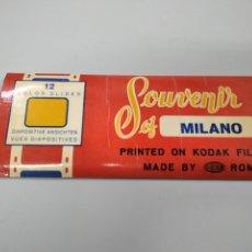 Fotografía antigua: 12 DIAPOSITIVAS SOUVENIR DE MILAN. Lote 261827735