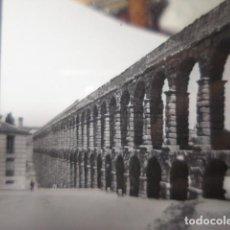 Fotografía antigua: SEGOVIA ACUEDUCTO ROMANO CRISTAL PARA LINTERNA MAGICA - FINALES SIGLO XIX -. Lote 262821945