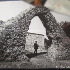 Fotografía antigua: TOLEDO PUERTA ROMANA RARISIMA CRISTAL PARA LINTERNA MAGICA - FINALES SIGLO XIX -. Lote 262822160