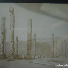 Fotografia antica: DIBUJO LOS MEDAS Y LOS PERSAS ARQUEOLOGIA CRISTAL PARA LINTERNA MAGICA - FINALES SIGLO XIX -. Lote 262822890