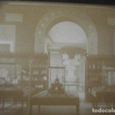 Fotografia antica: FRANCIA PARIS LOUVRE SALA PERSA ARQUEOLOGIA CRISTAL PARA LINTERNA MAGICA - FINALES SIGLO XIX -. Lote 262822925