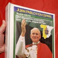 Fotografía antigua: ÁLBUM AUDIOVISUAL. JUAN PABLO II EN ESPAÑA. COMPLETO. 240 DIAPOSITIVAS. AÑO: 1983.. Lote 264569569
