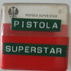 Fotografía antigua: ANTIGUO LOTE 12 DIAPOSITIVAS PISTOLA SUPER STAR. Lote 268900054