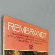 Fotografía antigua: REMBRANDT 1606-1669 12 DIAPOSITIVAS CODEX AÑO 1969. Lote 270945868