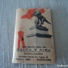 Fotografía antigua: CARPETA DE BALTA Y RIBA CON 8 NEGATIVOS DE 9 X 6 CM. Lote 276435283