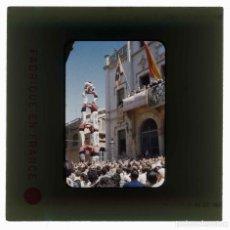 Fotografia antiga: SITGES. FESTA MAJOR. SANT BERTOMEU. NENS DEL VENDRELL. 1956. DIAPOSITIVA KODACHROME.. Lote 277033468