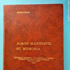 Fotografía antigua: JORGE MANRIQUE, SU MEMORIA AUDIOVISUAL - DIODORO URQUIA JUEGO COMPLETO DE 180 DIAPOSITIVAS + CINTA. Lote 288074648
