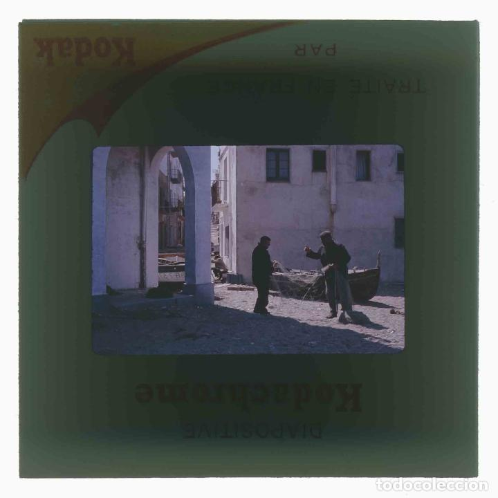Fotografía antigua: LLANÇÀ. Girona. Calle. Pescadores. c.1965 - Foto 3 - 288337948