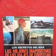 Fotografía antigua: LOS SECRETOS DEL MAR..LAS MEJORES DIAPOSITIVAS DE LOS VIAJES DE COUSTEAU.ED. URBION..COMPLETO. Lote 291421778
