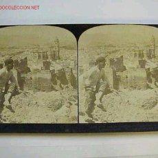 Fotografía antigua: VISTA STEREOSCOPICA MALAGA AÑO 1903. Lote 13027759