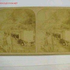 Fotografía antigua: VISTA STEREOSCOPICA RIERA DE AMER (GERONA) AÑOS 1900. Lote 4397534