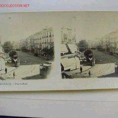 Fotografía antigua: VISTA ESTEREOSCOPICA GRANADA PUERTA REAL, AÑOS 1900. Lote 7115335