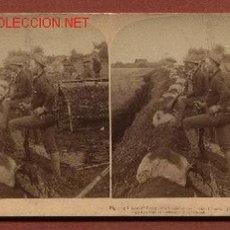 Fotografía antigua: FOTOGRAFÍA ESTEREOSCÓPICA DE SOLDADOS AMERICANOS DURANTE LA GUERRA DE FILIPINAS. Lote 23660618