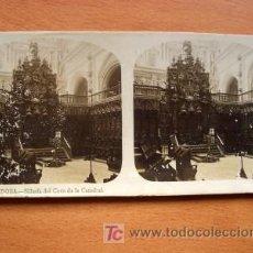 Fotografía antigua: EL TURISMO PRÁCTICO - Nº 8 CÓRDOBA - SILLERÍA DEL CORO DE LA CATEDRAL. Lote 25996749