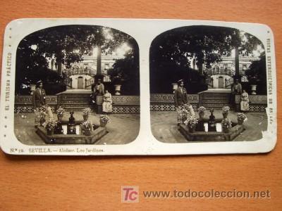 EL TURISMO PRÁCTICO - Nº 12 - SEVILLA - ALCÁZAR LOS JARDINES (Fotografía Antigua - Estereoscópicas)
